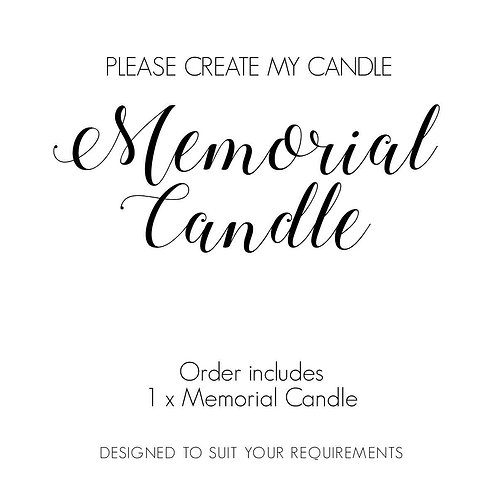 Memorial Candle, Pillar Candle, Remembrance Candle