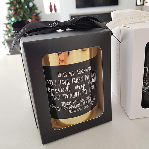 Personalised Teacher's Candle 'You have taken my hand' - Teacher's Present