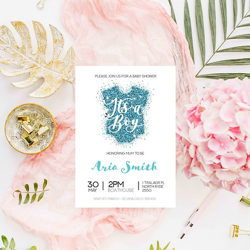 It's a Boy - Baby Shower Invitation - Digital File Only