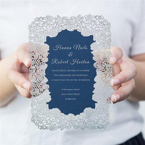 35 Decorative Foil Laser Cut Invitations