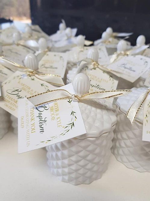 48 - Luxury Scented Candle Favours - 100ml Wedding Favours, Baby Shower