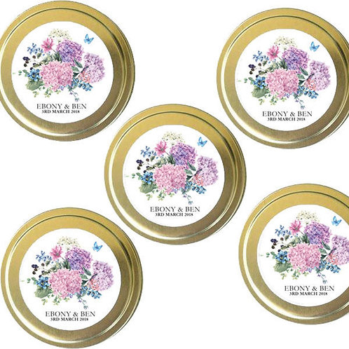 48 - 2oz Scented Soy Candle Floral Wedding Candle Favours