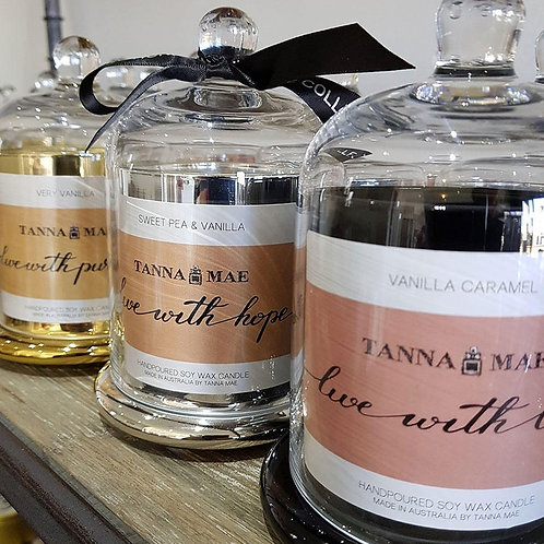 'Live with Hope' Scented Soy Candle - created by TannaMae