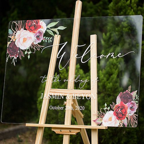 Welcome to the Wedding! Stylish Acrylic Signage for your special event