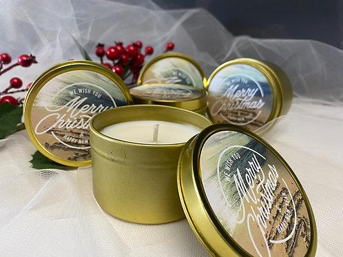 Christmas Candle Gift - Island Christmas Large Candle Tin