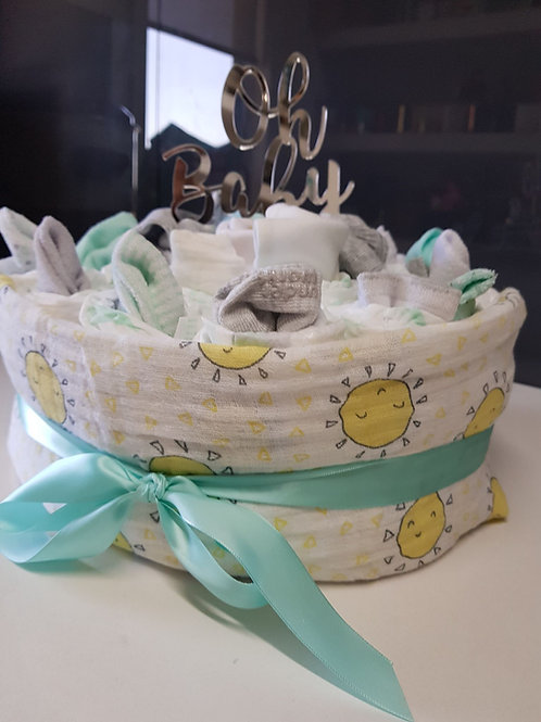 Celebrate Baby Nappy Cake - 1 Tier