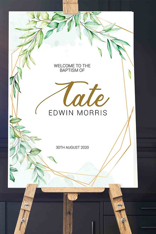 Welcome Signage - Baptism, Christening, Wedding. Printed in either A1 or A0