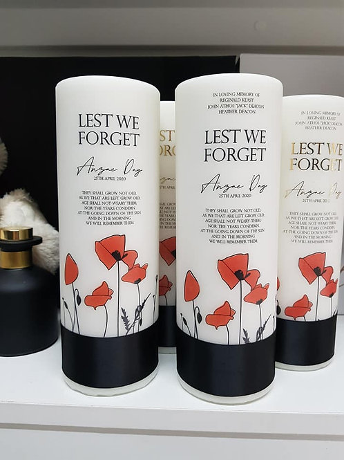 Remembrance Candle - Anzac Day Pillar Candle