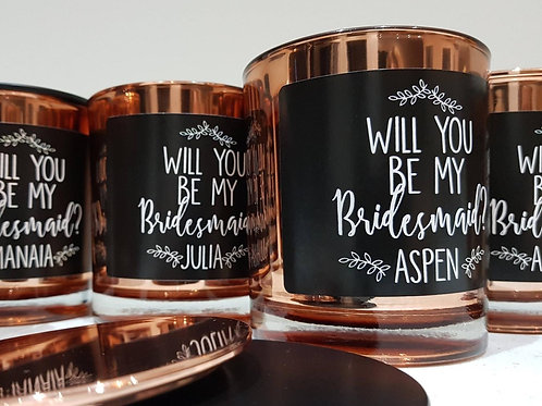 'Will you be my bridesmaid? Personalised Candle - Large Scented Candle