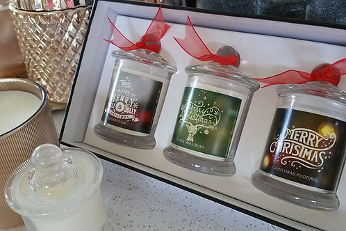 Christmas Candle Trio Luxury Gift Box