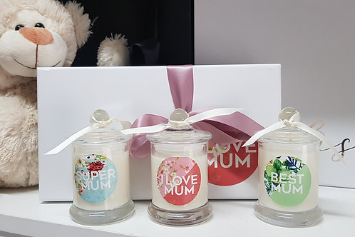 Mother's Day Candle Trio - Super Mum, Best Mum, I love Mum!