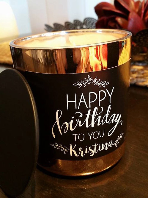 Personalised Birthday Candle - Handmade Scented Soy Candle