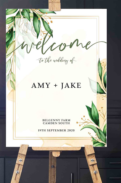 Garden Love Welcome Signage - Printed in either A1 or A0