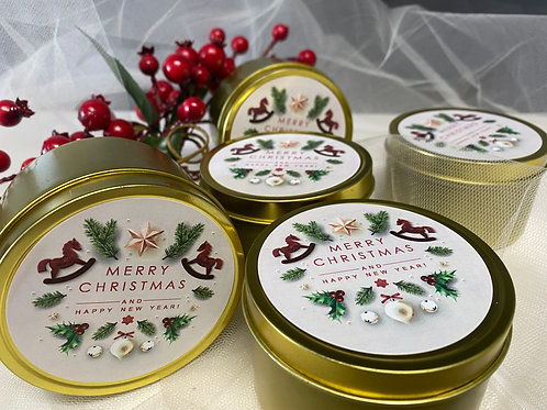 Christmas Candle Gift - Scotch Pine Large Candle Tin
