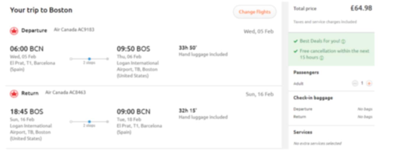 Barcelona - Boston, USA - Just €74 RTN  [Error Fare]