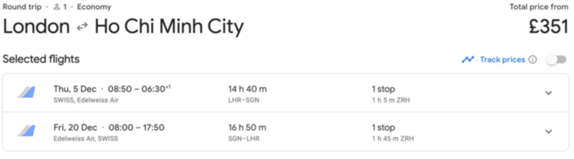 London - Vietnam for just £351 RTN