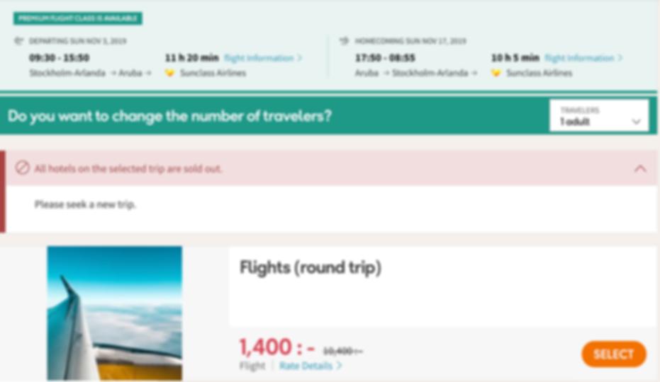 Stockholm - Aruba just €131 (SEK 1,400) RTN (LAST MINUTE DEAL)