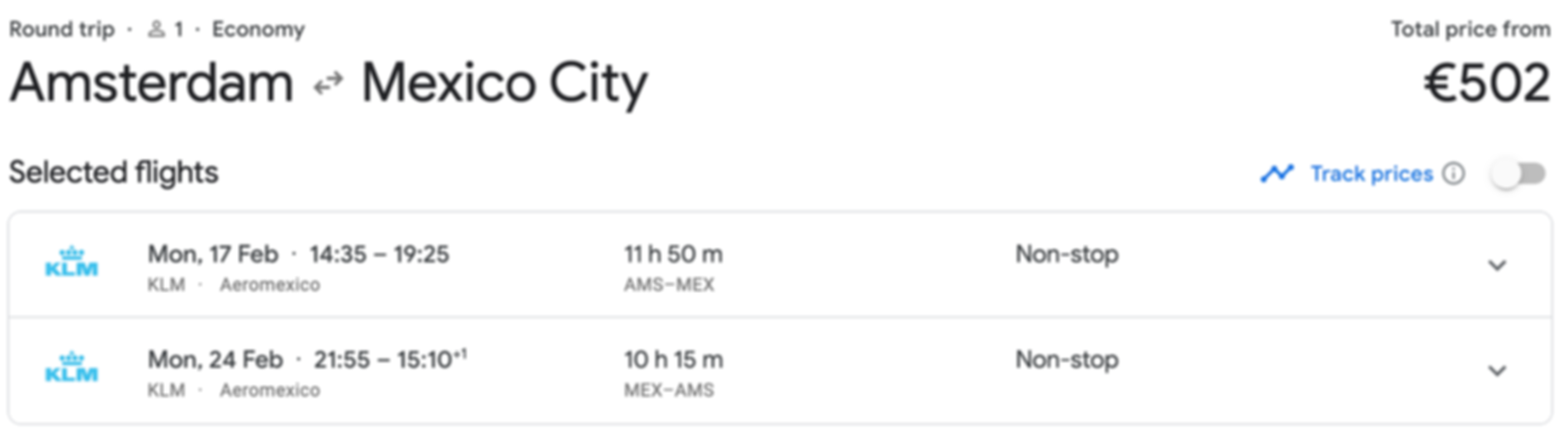 Amsterdam - Mexico City just €502 RTN (DIRECT)