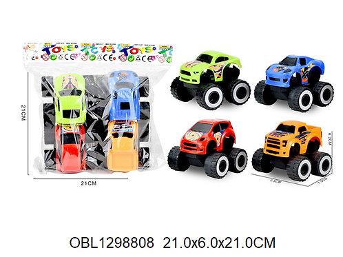 Купить игрушку машина инерц. джип 4 шт/пакет
