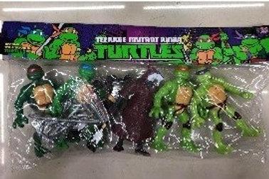 Фигурки Черепашки Ниндзя 6 героев в пакете.