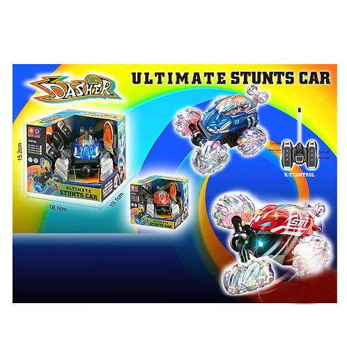 Игрушка детская:Машина перевертыш на р/у,прозрач.колеса