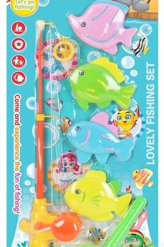 """Набор игровой """"Веселая Рыбалка"""" на картоне 48х17см"""