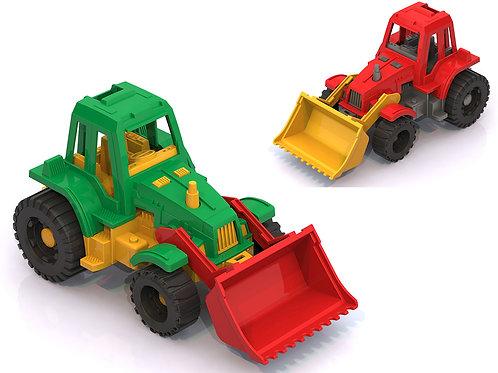 """Купить игрушку НордПласт: Трактор """"Ижора"""" с грейдером"""