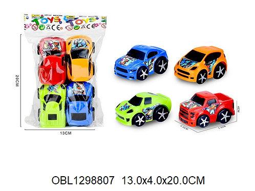 Купить игрушку машина инерц. 4 шт/пакет