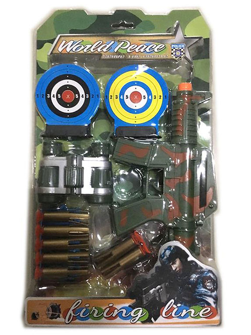 Игрушка детская:Военный набор 22.5x38x5.5см