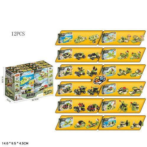 Игрушка детская:Конструктор 12шт. 12 видов