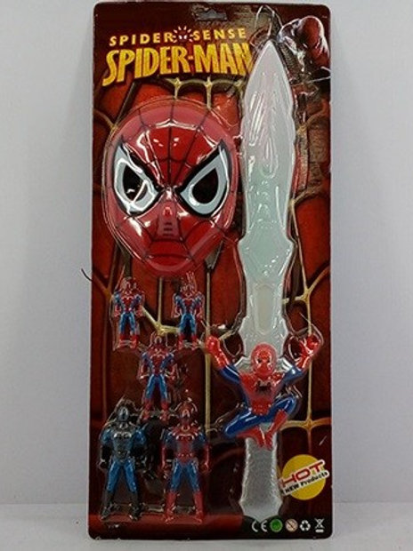 Набор оружия Человек паук фигурки, меч и маска на картоне 64х29х6см