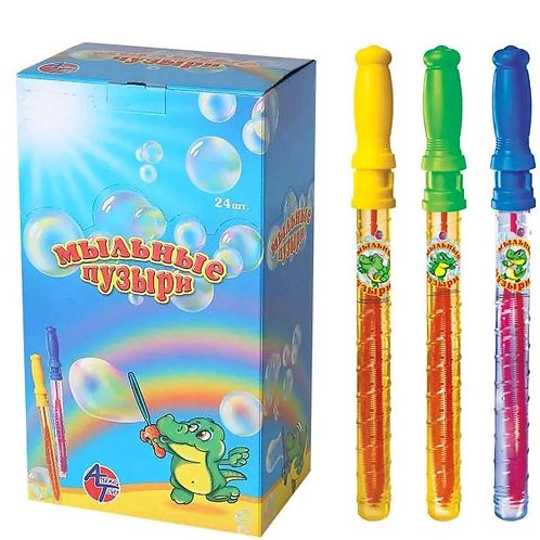 Купить игрушку меч с мыльными пузырями 120мл 24 шт/кор