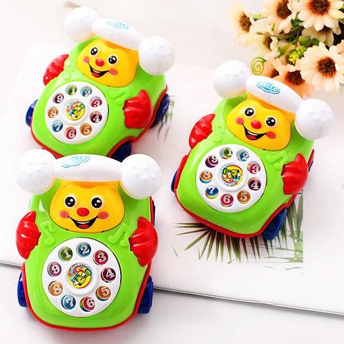 """Каталка для малышей """"Веселый Телефон"""" 4 вида в пакете"""