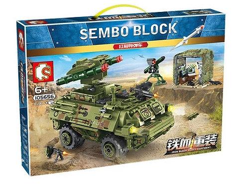 "Конструктор Sembo Block ""Боевая машина пехоты"" 616 дет. в кор. 42.5х6.8х30см"