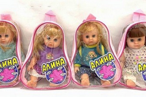 """Кукла """"Алина"""" малая  4 вида озвучена"""
