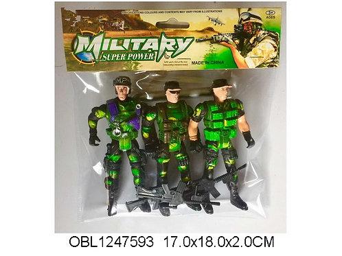 Купить игрушку солдат 3 шт/пакет