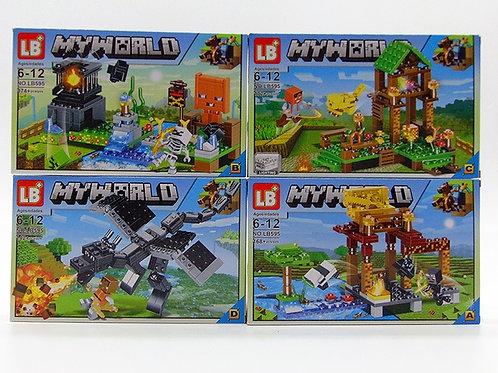 Конструктор LB+(My World) «Minecraft 4 in 1», цена за 1шт.
