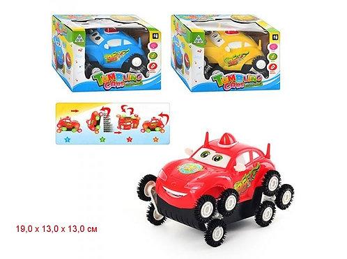 Купить игрушку машина на батарейках перевертыш 3 цвета