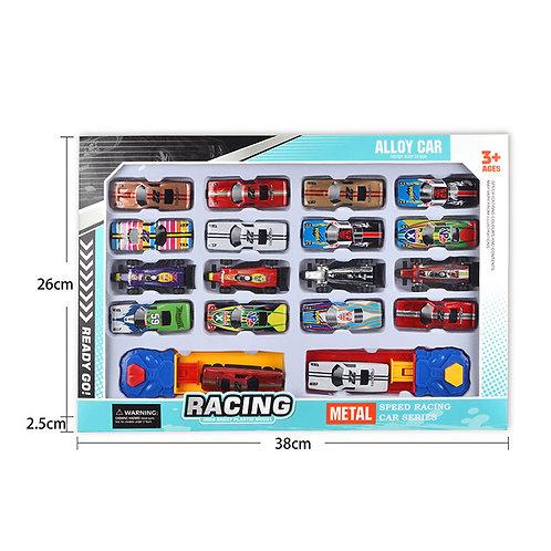 Игрушка детская:Набор машинок 18шт в коробке + 2катапульты
