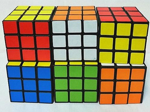 Кубик Рубика по 6шт. размер 5.3 см кубик в пакете