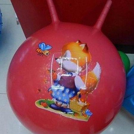 Мяч рогач с мультгероями в ассортименте