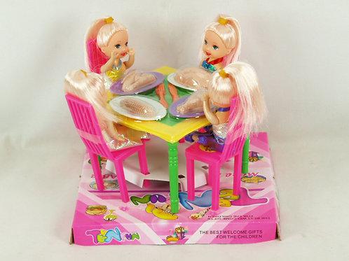 Игрушка детская:Стол с набором 17x17x14см