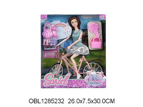 Купить игрушку кукла на велосипеде