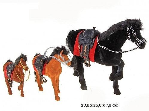 Купить игрушку лошадь флок 3 шт/пакет