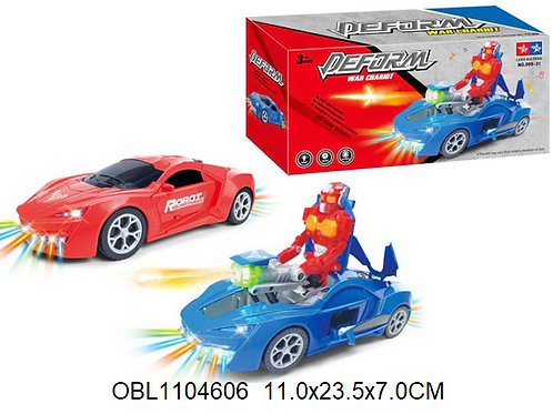 Купить игрушку машина на батарейках трансформер 2 цвета акция скидка 50%