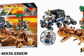"""Конструктор BELA 10926 Dinosaur World """"Побег в гиросфере от карнотавра"""" 595 дет."""
