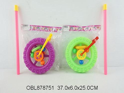 Купить игрушку каталка колесо 3 цвета