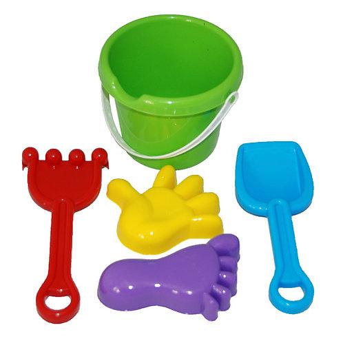 Купить игрушку Песочный набор №39 (ведро-крепость совок, грабли)