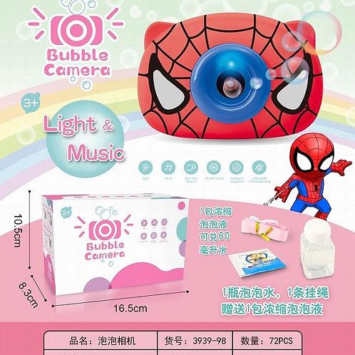 """Детская камера """"Человек паук"""" с функцией мыльных пузырей в кор. 16.5х10х8.3см"""