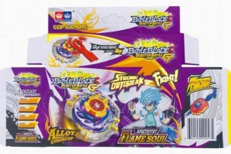 Игрушка волчок Бейблейд  Flame Soul 4 вида с запуском